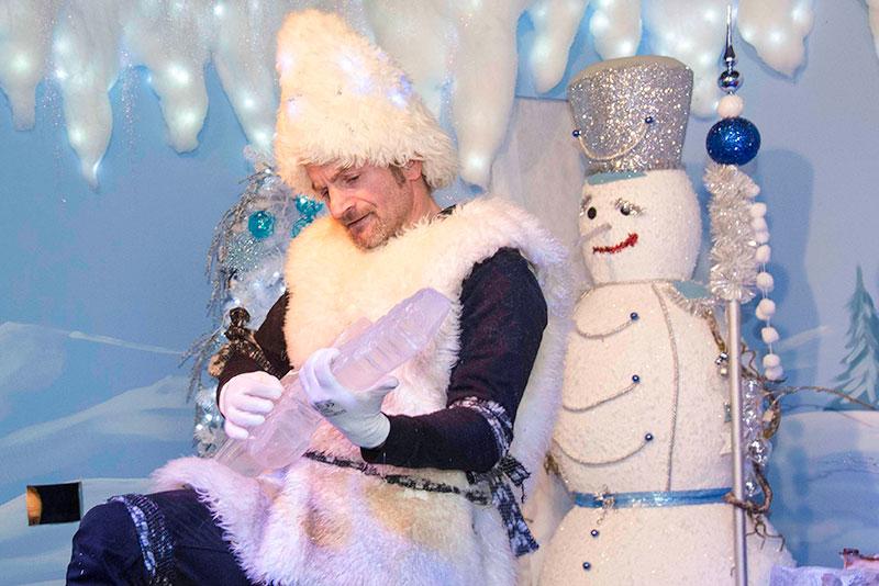 Frozy Show Amelio Mazzella al Villaggio di Natale Flover