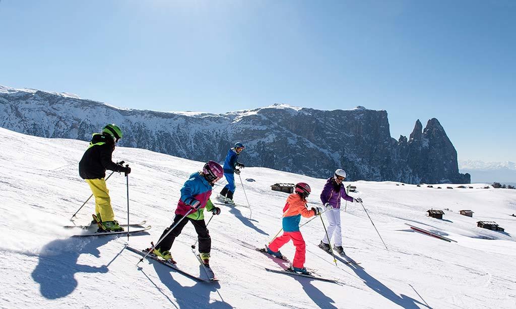 Sciare sull'Alpe di Siusi con i bambini