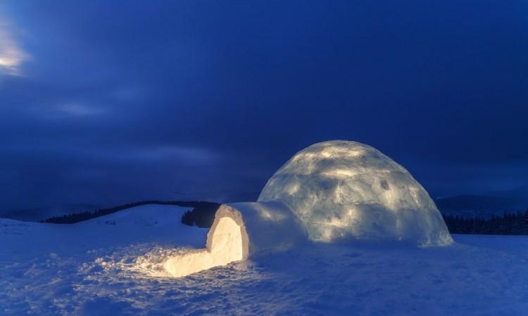 construire un igloo con i bambini