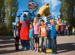 le mascotte del spieleland ravensburger