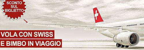 promozione e sconti per bambini della compagnia aerea svizzera swiss airline