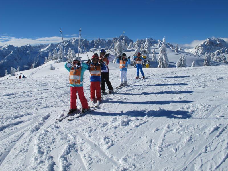 sciare a marzo con i bambini