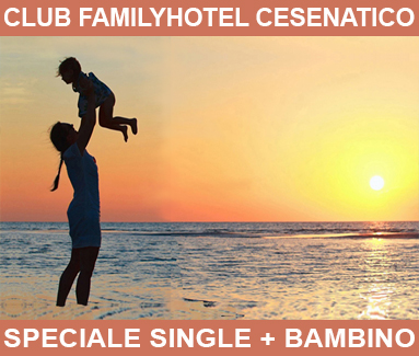BiondiHotels Cesenatico - speciale single + bimbo