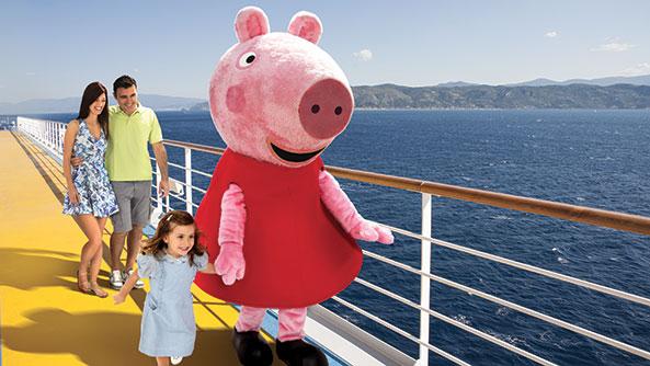 Peppa pig sale a bordo delle navi costa crociere il