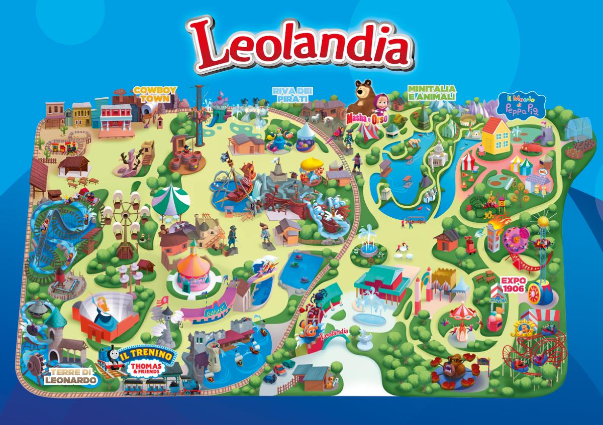 mappa leolandia 2016