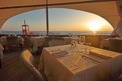 Paradu Tuscany EcoResort A' la Carte Restaurant on the beach at Sunset