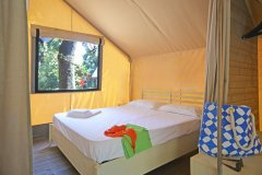 Paradu Tuscany EcoResort Lodge Tent Glamping Main Bedroom Queen bed