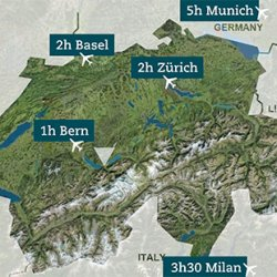 raggiungere la regione dello jungfrau in svizzera