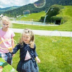 andare con i bambini allo swarovski kristallwelten innsbruck