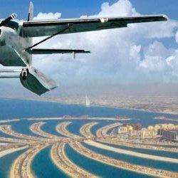 con l'idrovolante sugli emirati