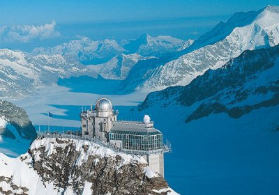 jungfraujoch stazione ferroviaria più alta in Europa