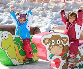 sulla neve con i bambini in trentino e alto adige