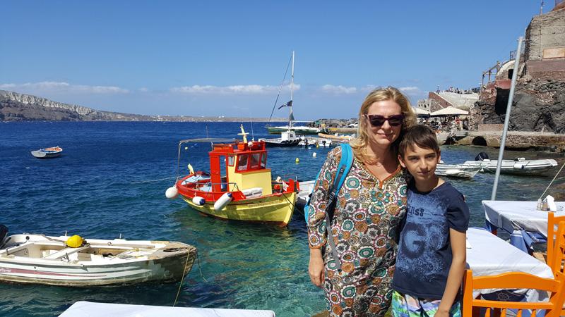 A Santorini con i bambini