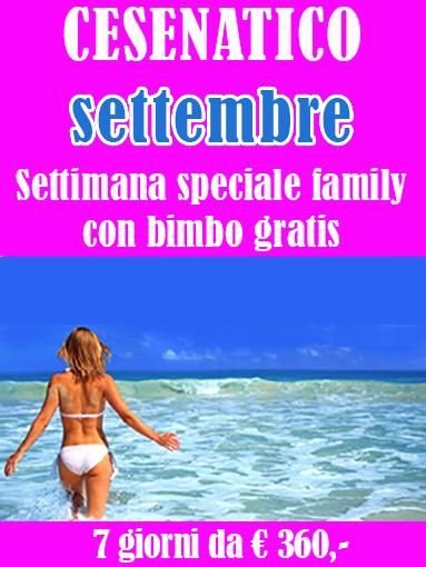 Offerte settembre Cesenatico Biondi hotels Romagna