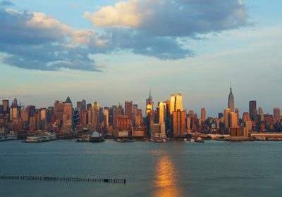 sunset skyline new-york