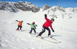 sciare con i bambini in austria