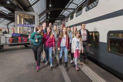 famiglie in vacanza in Svizzera