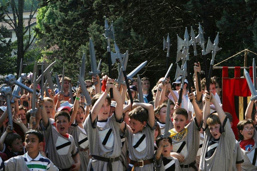 bambini al Castello di Gropparello