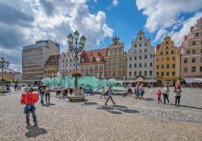 Wroclav Polonia con i bambini