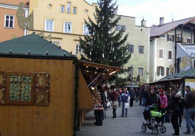 con i bambini al mercatino di Natale di Vipiteno
