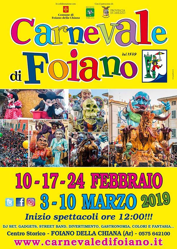carnevale 2019 di foiano della chiana toscana