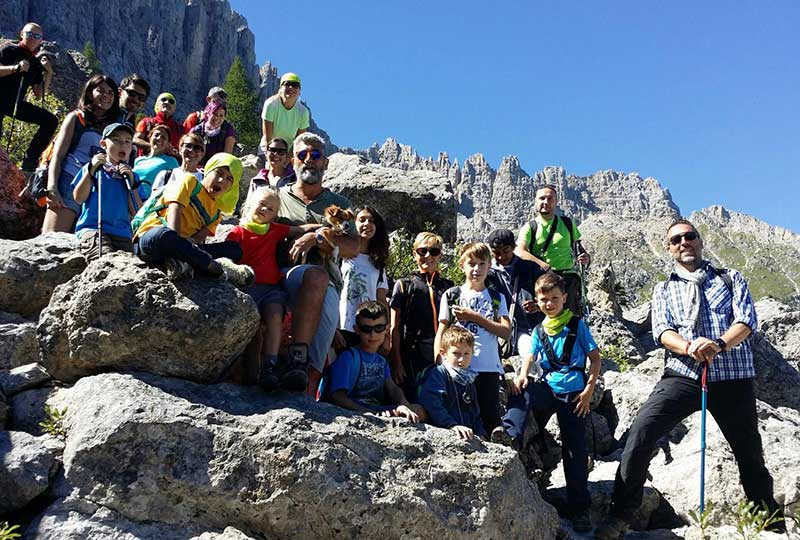 trekking per la famiglia in trentino