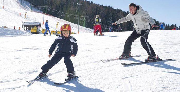 sciare con bambini in trentino