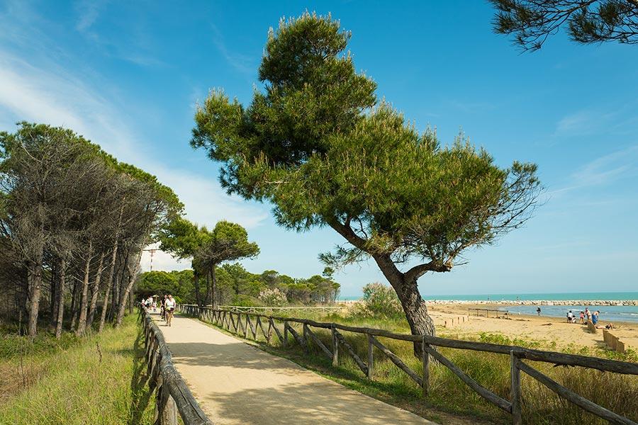 Bibione pista ciclabile Spiaggia