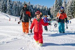 inverno sulla neve con bambini dolomiti paganella