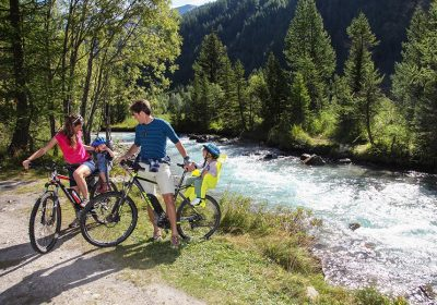 Valle d'Aosta Mountain bike con bimbi