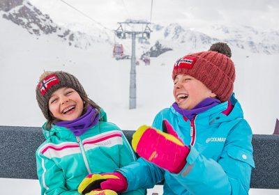 sciare con i bambini passo del tonale